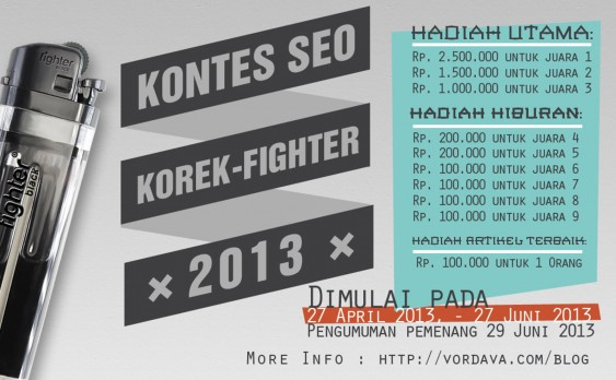 Kontes SEO Korek Fighter 2013
